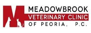 Meadowbrook Veterinary Clinic of Peoria, P.C. logo.